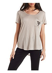 Slouchy Graphic Pocket Tee