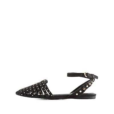 Studded Two-Piece Flats