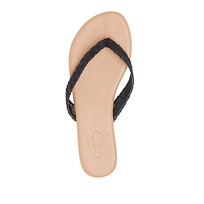 Embroidered Thong Sandals