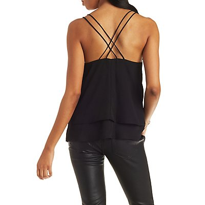 Tiered Strappy Camisole Top