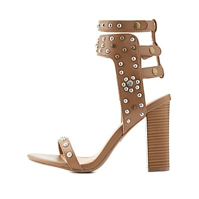 Studded Two-Piece Dress Sandals