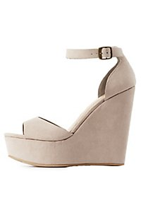 Bamboo Platform Ankle Buckle Sandals