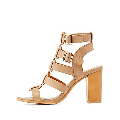 Qupid Strappy Buckled Sandals