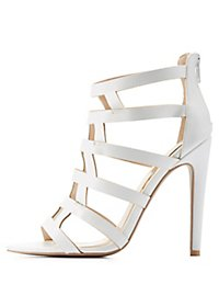 Qupid Caged Dress Sandals