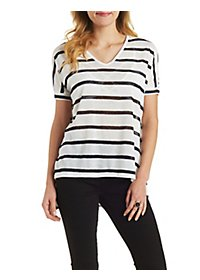 Striped High-Low Tee