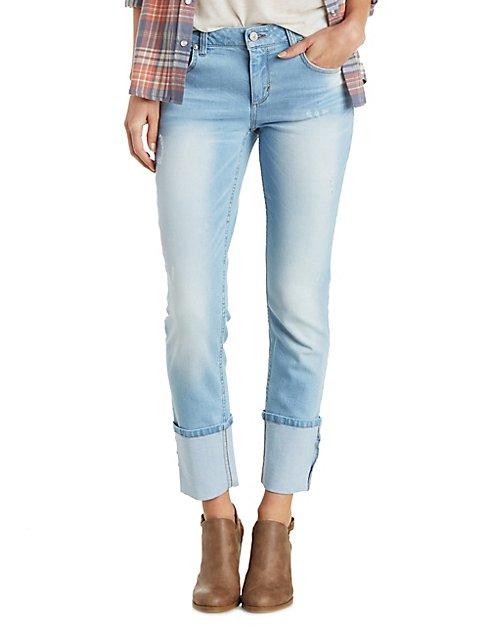 Light Wash Destroyed Jeans | Charlotte Russe