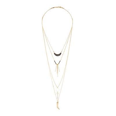 Druzy, Bead, & Charm Layering Necklaces