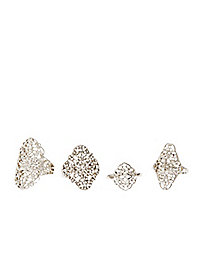 Filigree Rings - 4 Pack