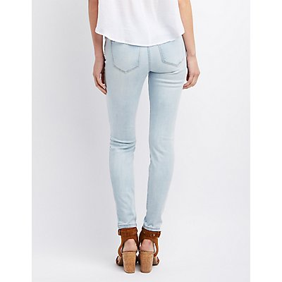 Refuge Skin Tight Legging Light Wash Jeans