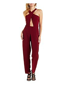 Cross Over Bust Sleeveless Jumpsuit