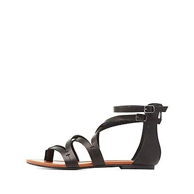 Double Buckle Gladiator Sandals