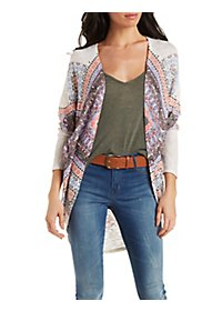 Diamond Print Cardigan Sweater