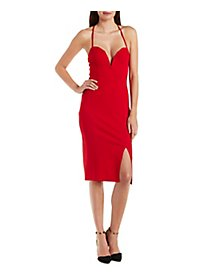 Wired Notch Bodycon Dress