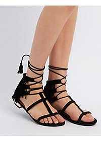 Caged Fringe Sandals