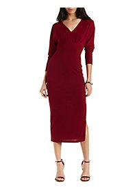 Dolman Sleeve V-Neck Maxi Dress