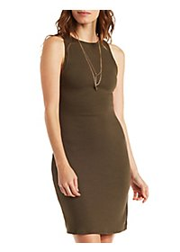 Ribbed Bodycon Dress with Side Slit