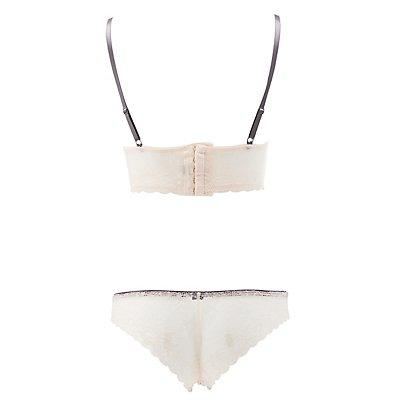 Long Line Lace Bra & Panty Set