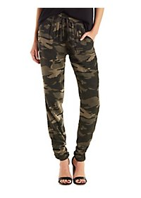 Ruched Ankle Jogger Pants