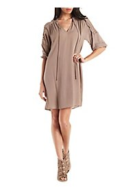 Lace Inset Shift Dress
