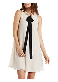 Jella C Tie-Front Shift Dress