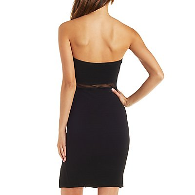 Strapless Mesh Waist Dress