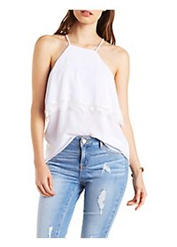 Lace-Trim Strappy Tank Top