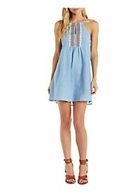 En Creme Embroidered Chambray Tunic