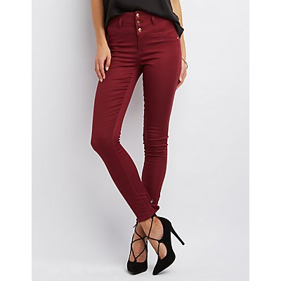 Refuge Hi-Waist Super Skinny Colored Jeans