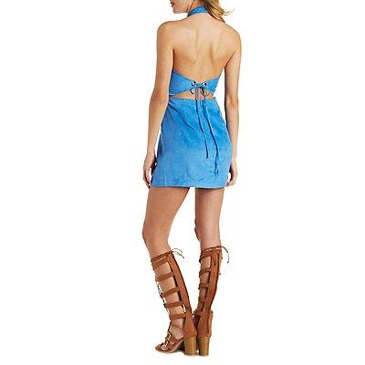 Re:Named Tie-Back Halter Dress
