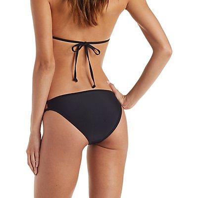 Strappy Caged Bikini Bottoms