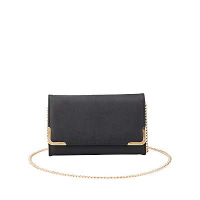 Gold-Tipped Convertible Crossbody Bag