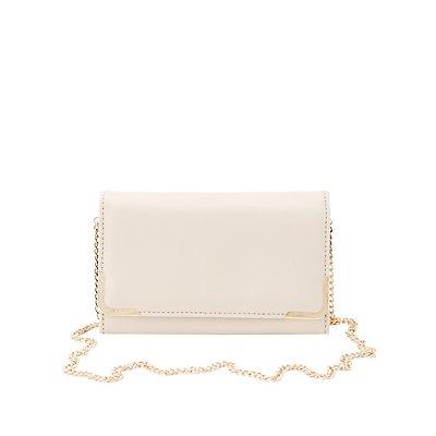 Gold-Tipped Convertible Crossbody Bag