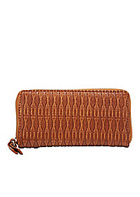 Textured Zipper Wallet