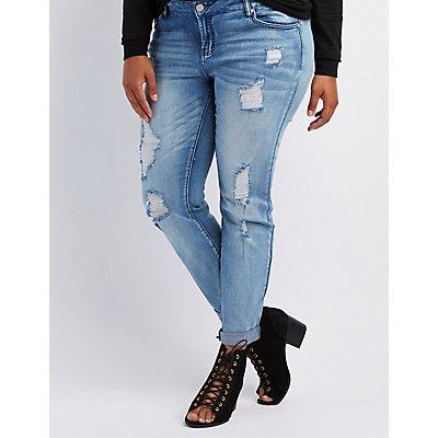 """Plus Size Refuge """"Skinny Boyfriend"""" Jeans"""