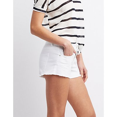 Refuge Mid-Rise Denim Shorts