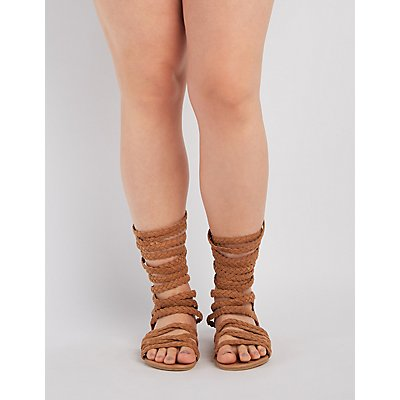 Wide Width & Calf Braided Gladiator Sandals