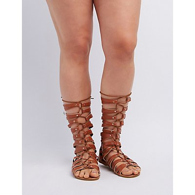 Wide Width & Calf Lace-Up Gladiator Sandals