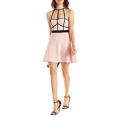 The Vintage Shop Strappy Skater Dress