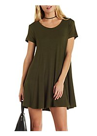 Jella C Short Sleeve Trapeze Shift