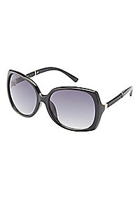 Metal-Trim Oversize Sunglasses
