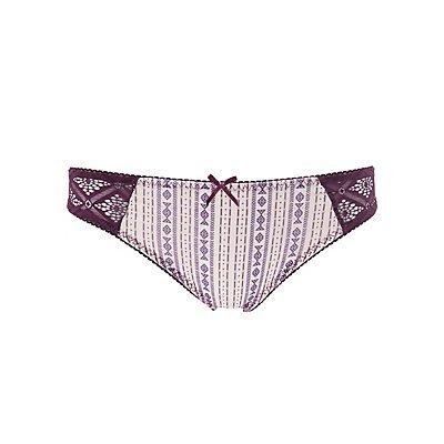 Lace Back Thong Panties
