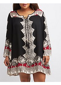 Plus Size Bell Sleeve Shift Dress