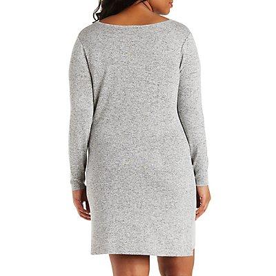 Plus Size Marled Shift Dress