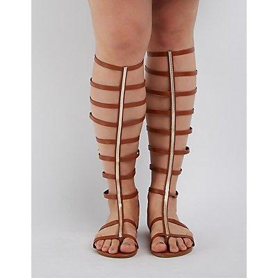 Wide Width & Calf Toe Strap Gladiator Sandals