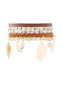Earth Tone Layering Bracelets - 4 Pack
