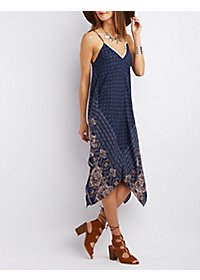 Scarf Print Shift Dress