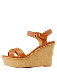 Crisscross Platform Wedge Sandals