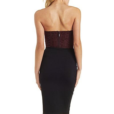 Cropped Lace Corset Top