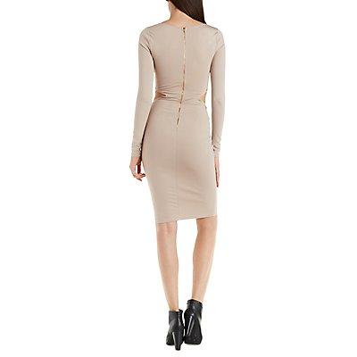 Cut-Out Waist Bodycon Dress