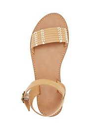 Stitched Two-Piece Sandals